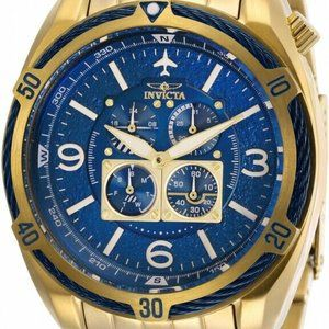 Invicta 28089 Aviator 50MM Men's Gold-Tone Watch